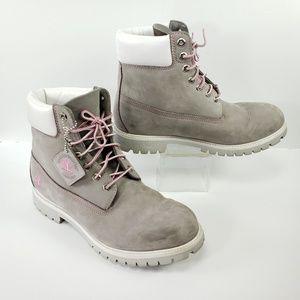 Timbereland 10M Waterproof Nubuck Boots Gray/Pink